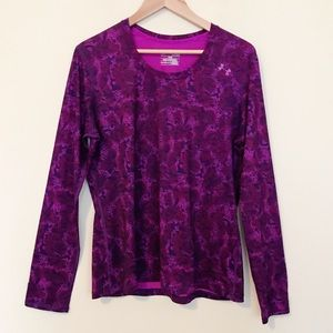 Under Armour HeatGear purple Fitted Top womens XL